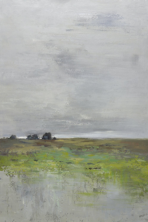 40x60 Large abstract oil painting of field on canvas 81941013