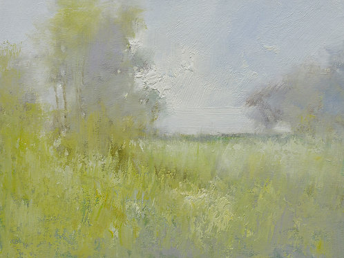 12x16 oil painting on canvas of field woods landscape 22010547