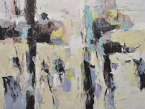 copy of 36x48 abstract oil painting on canvas 72071017B