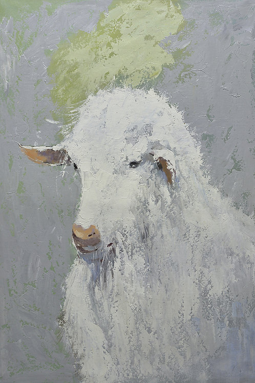 40x60 Large oil painting of sheep on canvas 9194805