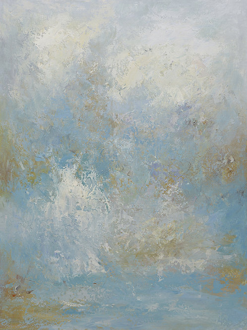 Studio art 36X48 large abstract oil painting S-8195009