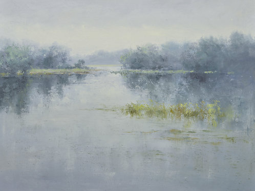 Giclee on canvas 36x48 gray lake view 72071030G