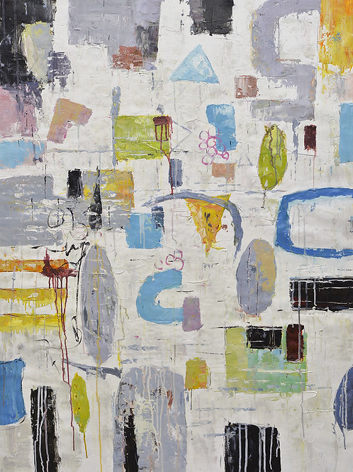 36x48 abstract oil painting on canvas 72071010
