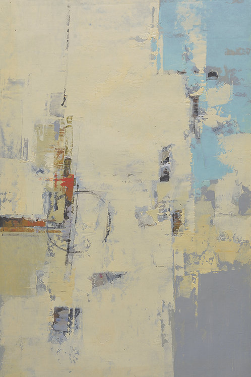 24x36 abstract oil painting on canvas with yellows 41951201