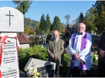 Uroczystość poświęcenia i odsłonięcia pomnika Heleny i Zygmunta Biluchowskich