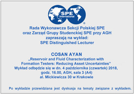 Wykład w AGH Cosana Ayana - distinquished lecturer SPE