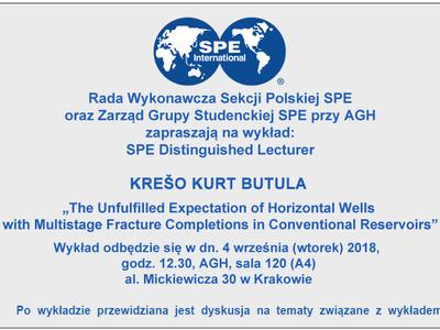 Wykład w AGH Krešo Kurt Butula - distinquished lecturer SPE