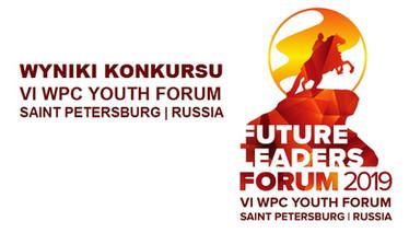 Rozstrzygniecie konkursu na wolontariusza podczas 6. Forum Młodzieży w Petersburgu w 2019 r.