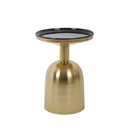 ACCENT TABLE,BLACK/GOLD