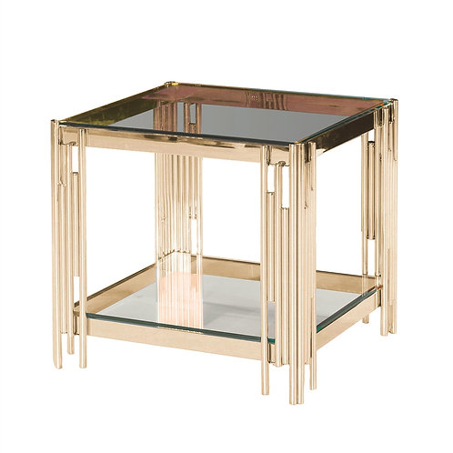 TIER GOLD/GLASS ACCENT TABLE