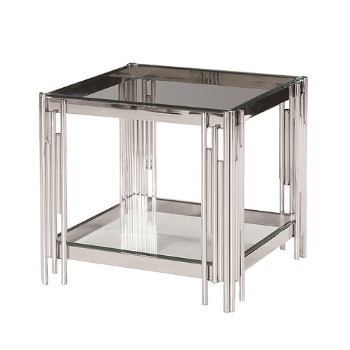 TIER SILVER/GLASS ACCENT TABLE