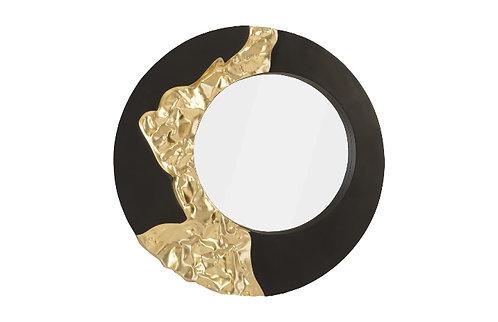 Mercury Mirror Black, Gold Leaf