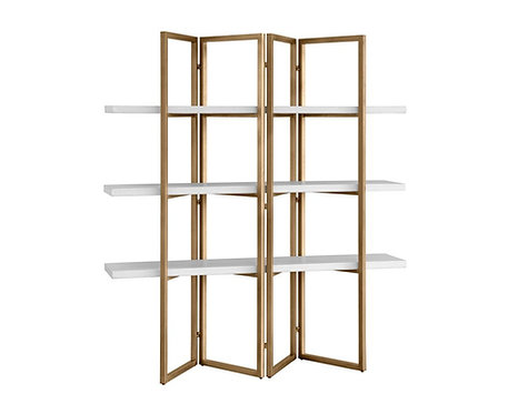 halston bookcase - antique brass