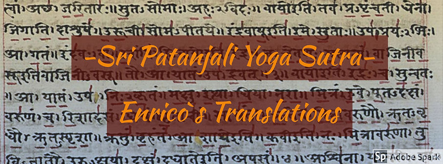 Yog Sutra word for word translations