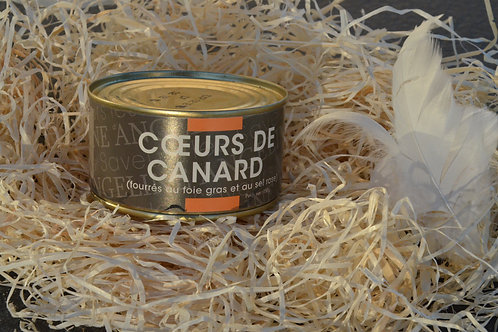 Coeurs de canard fourrés foie gras sel rose 150 g