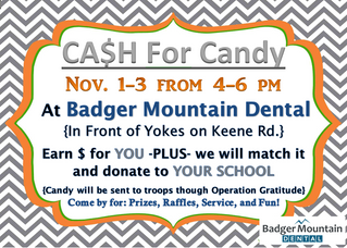 2016 Cash For Candy- Halloween Candy Buyback