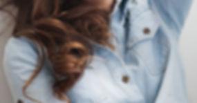 Fashion Model in Jean Shirt
