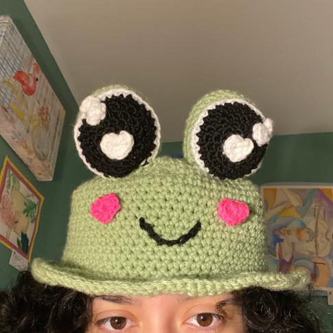 Crochet Froggy Bucket Hat