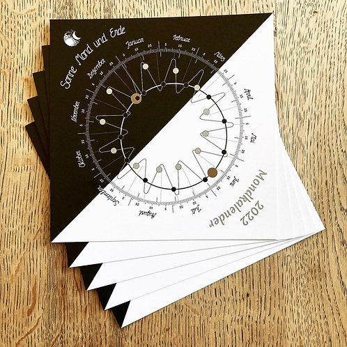 Postkarten-Set Mondkalender 2022