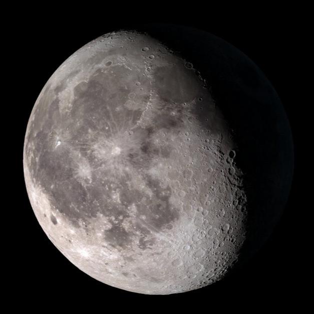 Der Mond mit seinen zahlreichen Kratern (Bild: NASA)