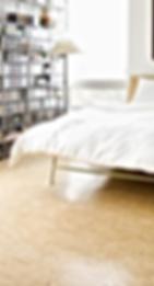 Vinyl commercial/domestic in a bedroom