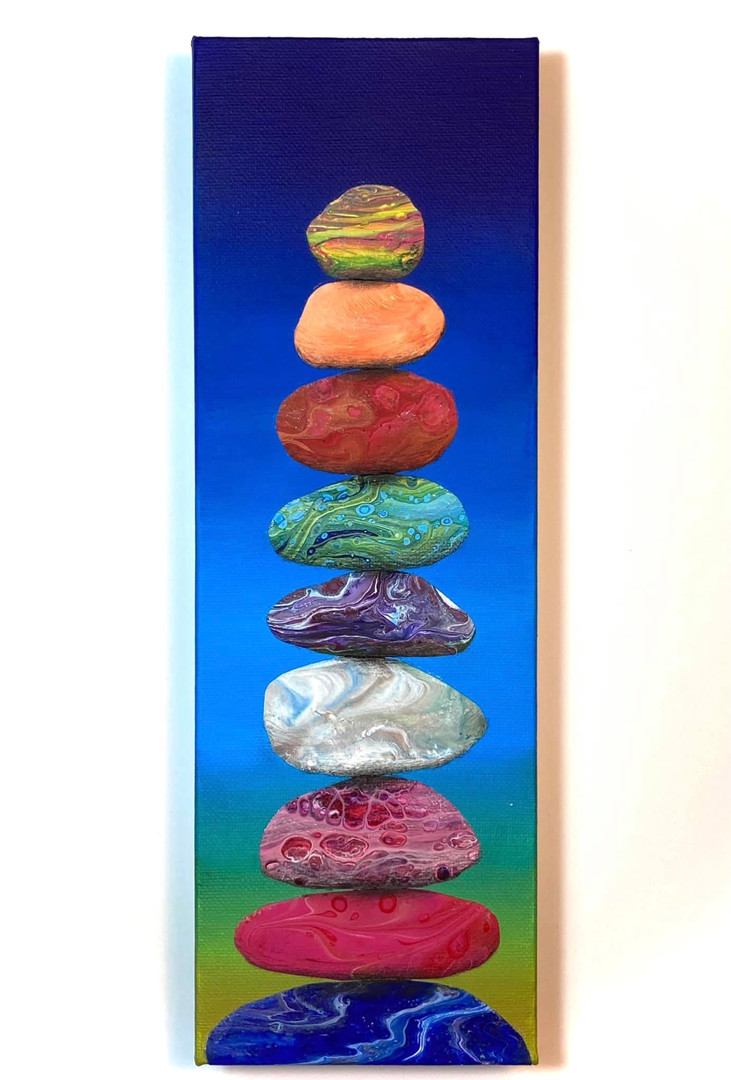 """Colorful Cairn"" by Amy Harper"