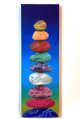 """""""Colorful Cairn"""" by Amy Harper"""