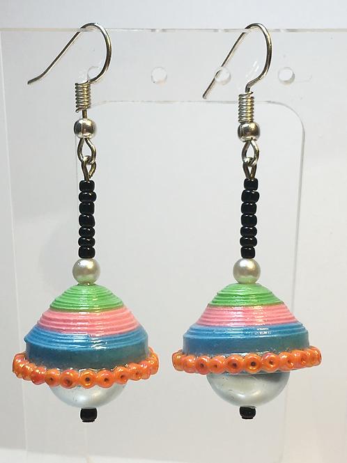 Paper Jhumka Earrings