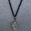 Thumbnail: Black Glass with Cut Glass Pendant