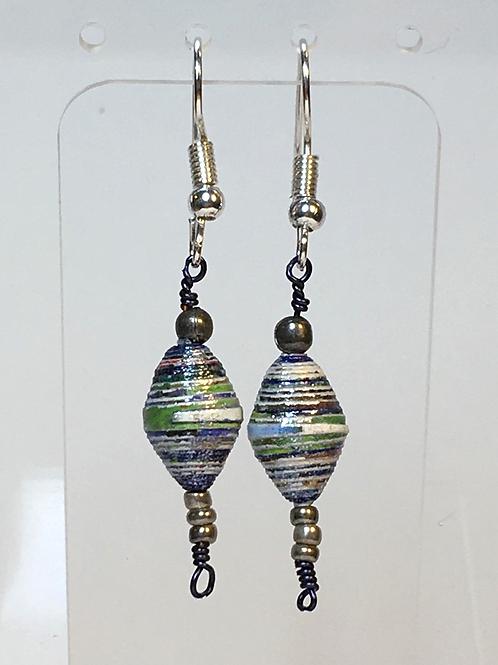 Simple Paper Bead Earrings