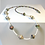 Thumbnail: Colorful Paper Bead / Seed Bead Necklace & Earring Set