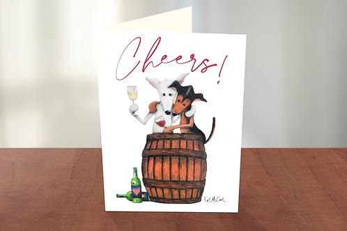 Cheers with Wine Blanca & Maja (KM)