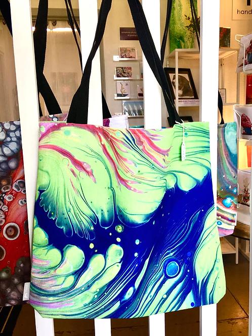 "Custom Printed Art Tote - ""Wave"""