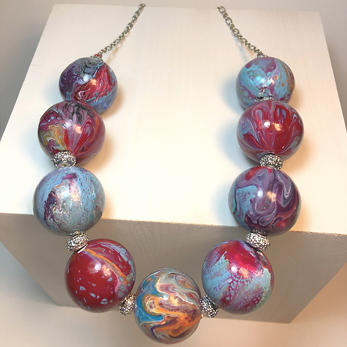 Painted Bead Necklace