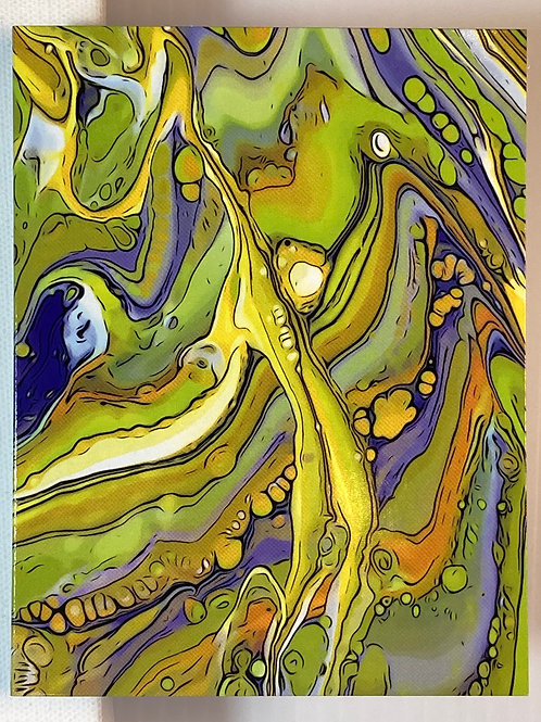Greeting Card - Chartreuse Flow