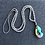 Thumbnail: Clear Glass Beads with Glass Prism Pendant