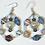 Thumbnail: Paper Bead Teardrop Earrings (clear)