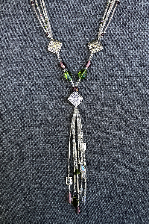 Multilayered Glass Necklace