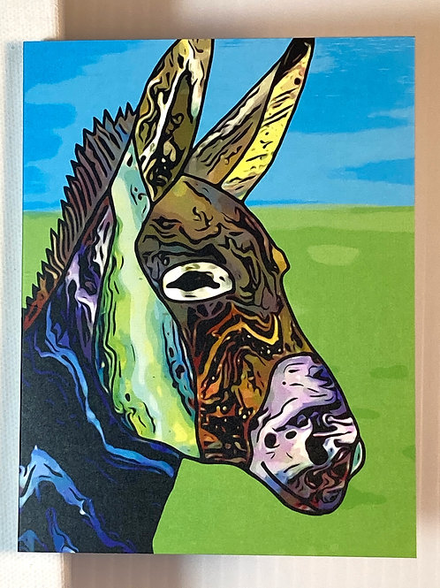 Greeting Card -Colorful Donkey