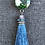 Thumbnail: Green and Blue Glass Necklace with Green Glass Pendant