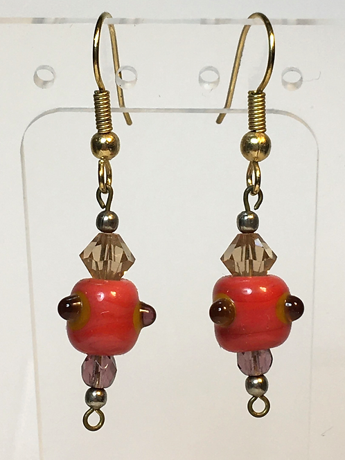 Custom Glass Bead Earrings