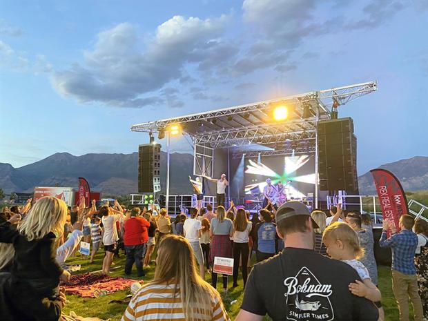 Staging at Vinyard, Utah.