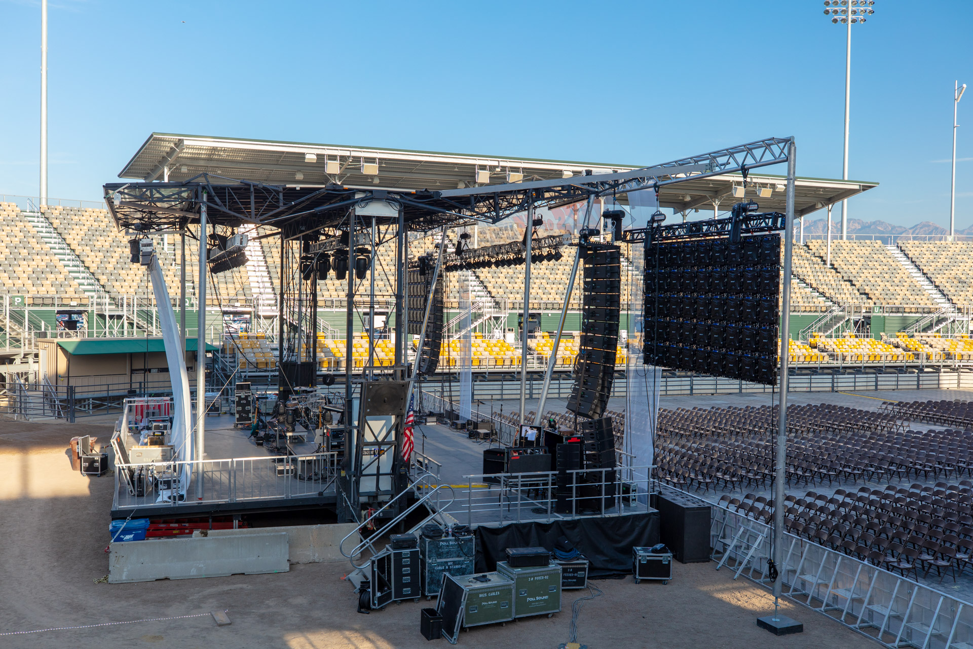 Stage with Video Wall Wings