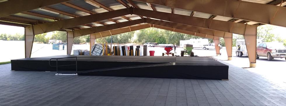 Custom Stage in Utah for a Festival