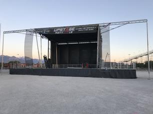 Stageline 320 Mock Setup with Video Walls