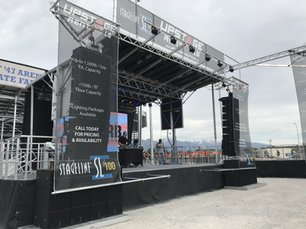 Stage with Banner's