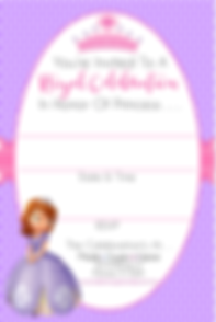 Sofia the 1st Party Invitations