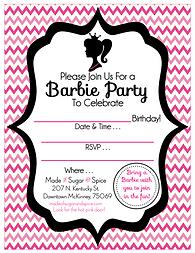 Barbie Birthday Party Free Printable Invitation