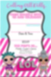 LOL Dolls Birthday Party Invitation