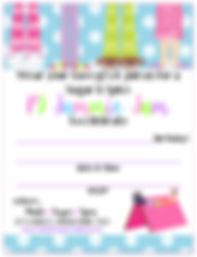 Pajama Party Free Printable Invitation
